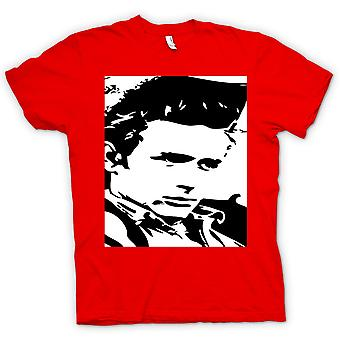 T-shirt Mens-retrato de James Dean - ícone - BW
