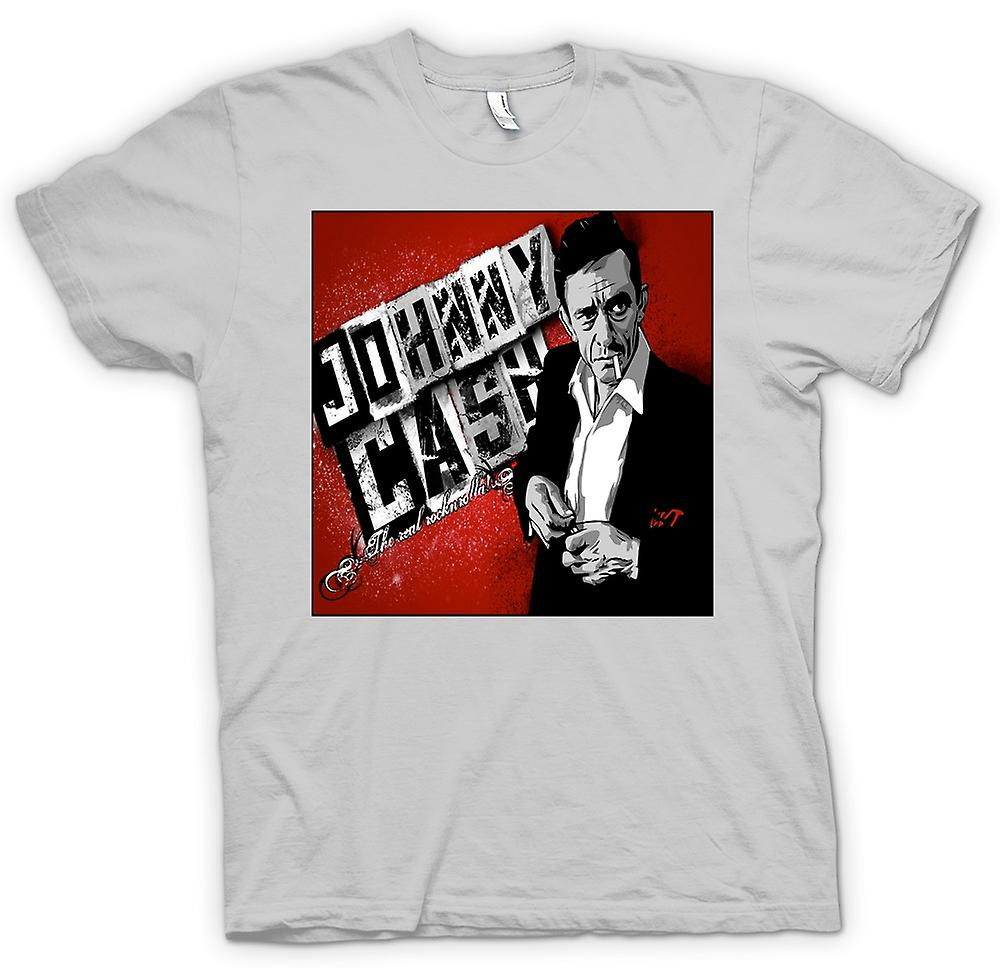 Heren T-shirt - Johnny Cash - echte Rock n Roll