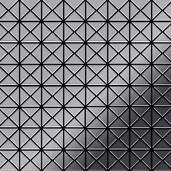 Mosaico de metal sólido Acero inoxidable ALLOY Deco-S-S-MM