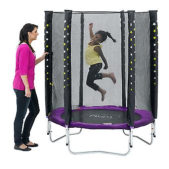 Plum Stardust Trampoline and Enclosure
