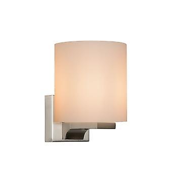 Opal specchio luce e lucide Jenno cilindro moderno in metallo cromo satinato