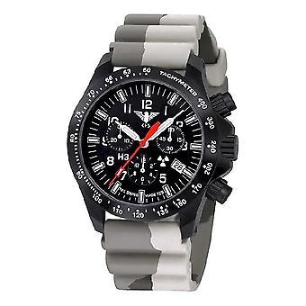 KHS Montres mens montre chronographe noire peloton KHS. BPCLDR. DC5