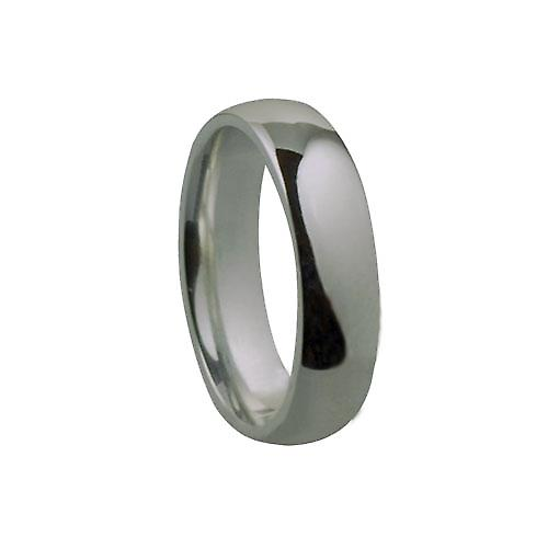 9ct White Gold 5mm plain Court shaped Wedding Ring
