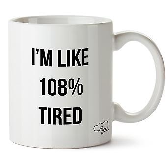 Hippowarehouse jeg liker 108% lei trykte krus Cup keramiske 10 Unzen