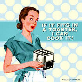 If It Fits In A Toaster single funny drinks coaster   (hb)
