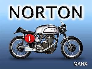 Norton Manx metal sign    (og 3040)