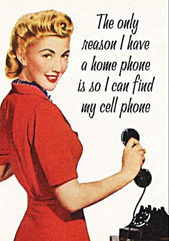 The Only Reason I Have A Home Phone... funny fridge magnet  (ep)