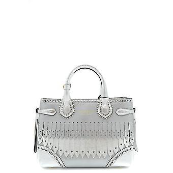 Burberry Silber Lederhandtasche