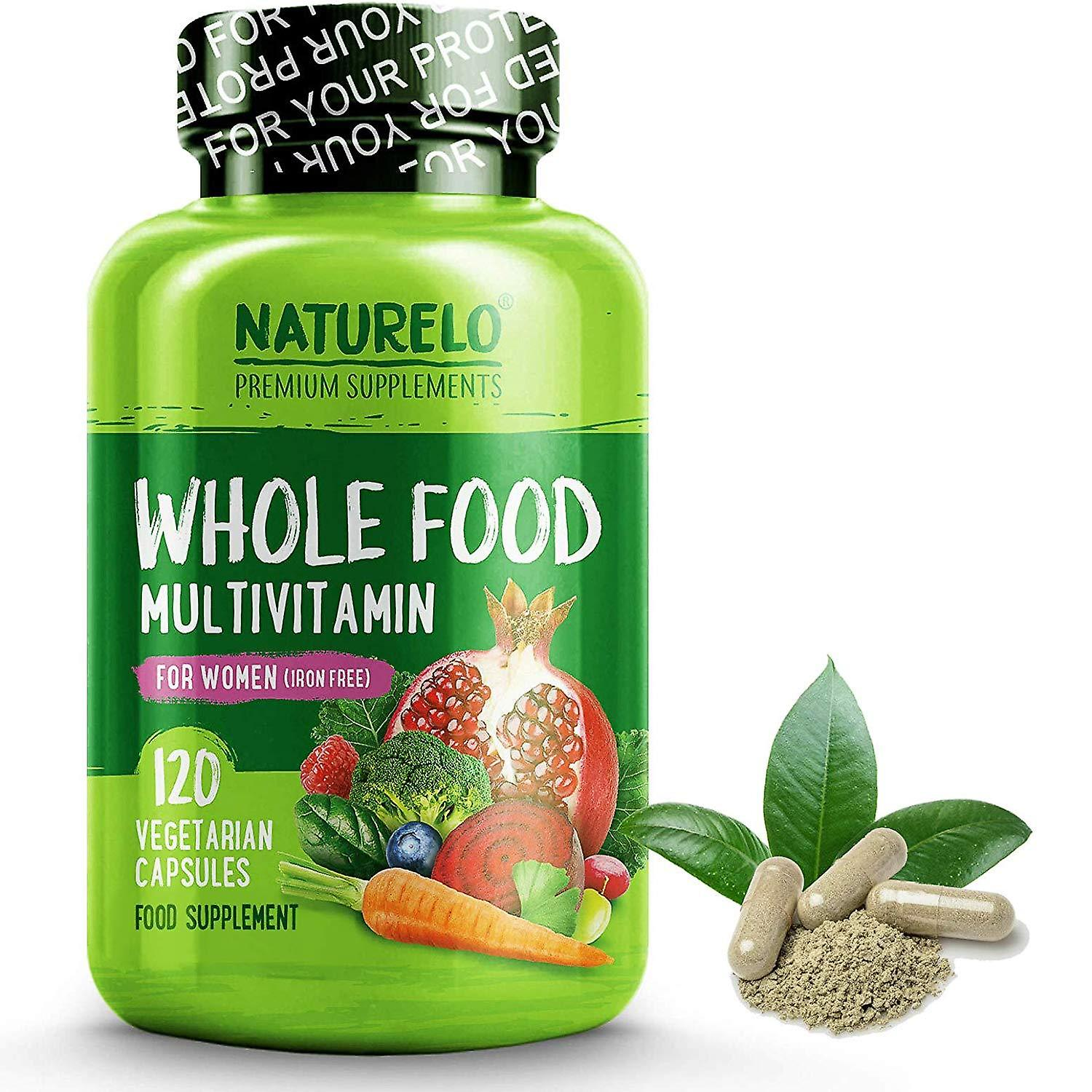 Femmes& 039;s whole food multivitamin 50+ with natural vitamins, fruit & herb extracts (vegan)