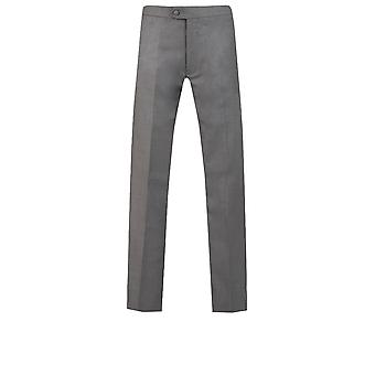 Dobell Mens Charcoal Tuxedo Trousers Slim Fit Satin Side Stripe