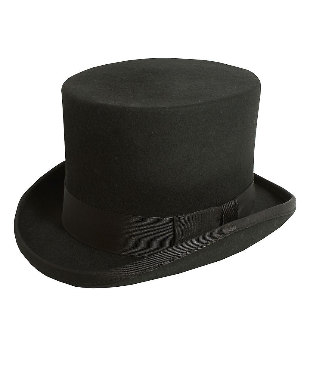 Londres Pour des hommes noir chapeau haut de forme douce laine de Christys feutre courses mariage formel