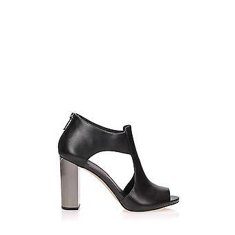 Michael Kors Paloma Black Leather Sandals