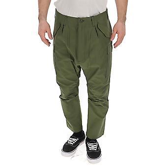 Junya Watanabe Green Cotton Pants