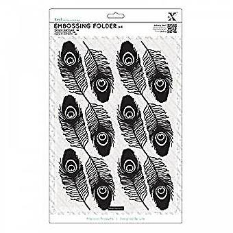 Xcut A4 Embossing Folder - Peacock Feathers (XCU 515918)