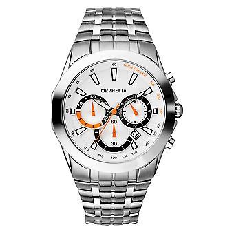 ORPHELIA Mens Chronograph Watch Drive prata aço inoxidável 153-7901-88