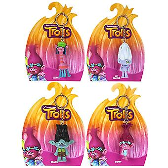 Trolls Movie 3D Figure Keyrings