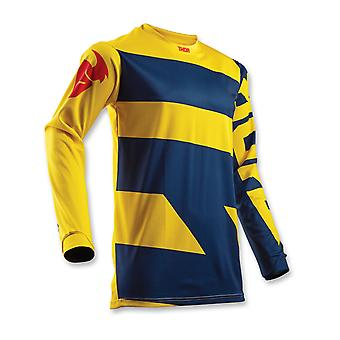 Thor Navy-Yellow 2018 Pulse Level Kinder MX Jersey