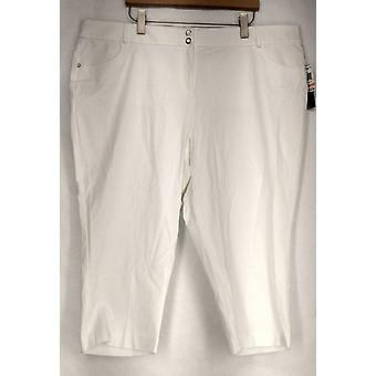 Alfani Belt Loops Pockets Button & Zip Closure Pants White Womens