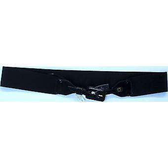 Liz Claiborne York Covered Buckle Stretch Belt Acorn Brown A9445