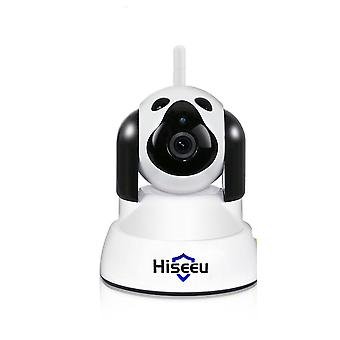 Home security ip camera wi-fi wireless smart pet dog camera 720p night cctv indoor baby monitor white (au plug)