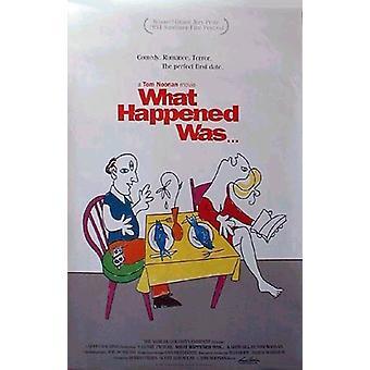 Mitä tapahtui (1994) alkuperäinen elokuva juliste