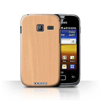 STUFF4 Case/Cover for Samsung Galaxy Y Duos/S6102/Beech/Wood Grain Pattern