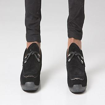 POLAR WHITES BLACK TWIST BUCKLE LOAFER