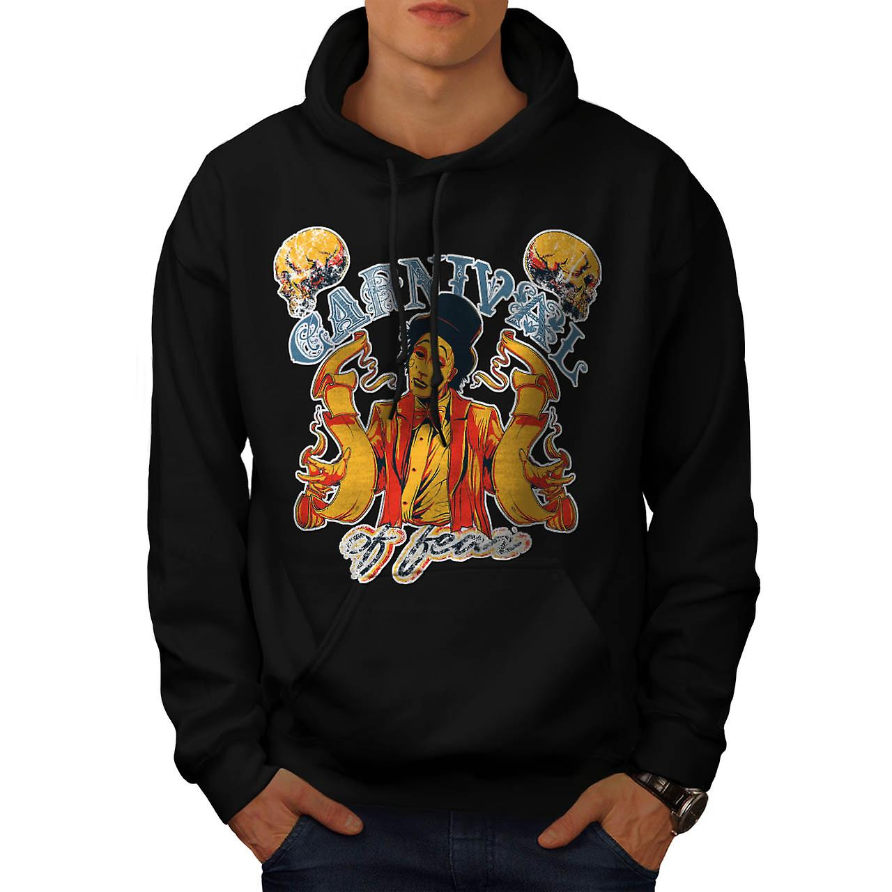 Carnival Of Fear Horror Men Black Hoodie | Wellcoda