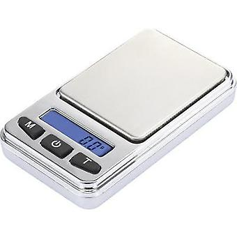 Pocket scales Basetech SJS-60008 Weight range 200 g Readability 0.01 g battery-powered Silver