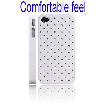 Soft cover with bright, for iPhone 4/4s (white)