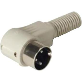 Hirschmann MAWI 50 SB 5-Pin Male DIN Plug Connector, Right Angle, Cable Mount, 4A Grey
