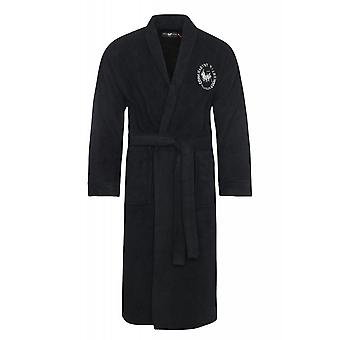 Harvey Miller Polo Club coat men's bathrobe black HRM4207