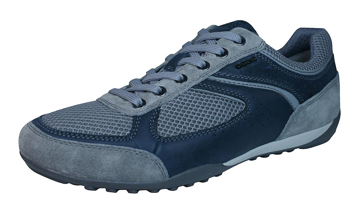 Geox U Wells A Pull Up Mens Trainers / Shoes - Navy