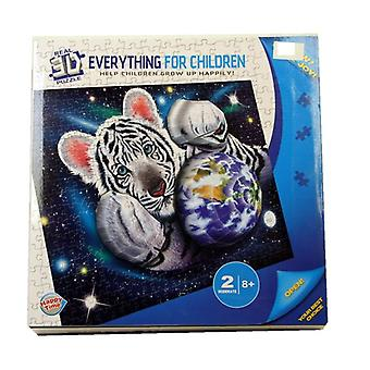 Real 3D Tiger Jigsaw Puzzle Set Children Play Toy Wall Decoration