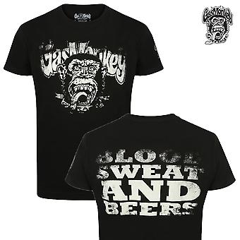 Gas monkey garage T-Shirt-distressed blood, sweat & beers
