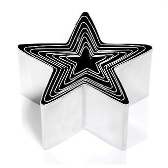 Eddingtons dybt stjerne Cookie Cutters, sæt af 8