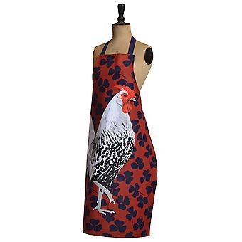 Leslie Gerry Silver Spangled Rooster Apron