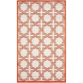 Elfenben & Orange geometriske tæpper - Safavieh