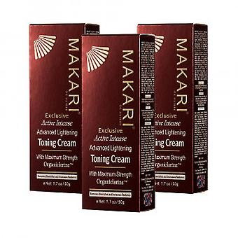 Makari Exclusive Toning Cream - 3 Packs