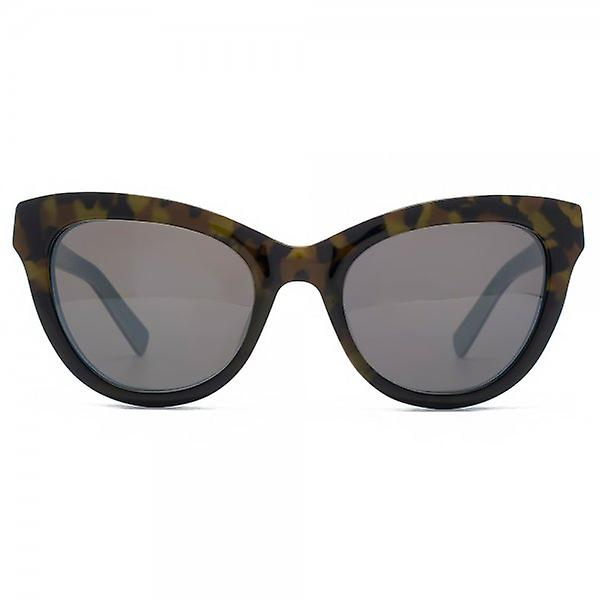 French Connection Premium Peaked Cateye Sunglasses In Tortoiseshell On Turquoise