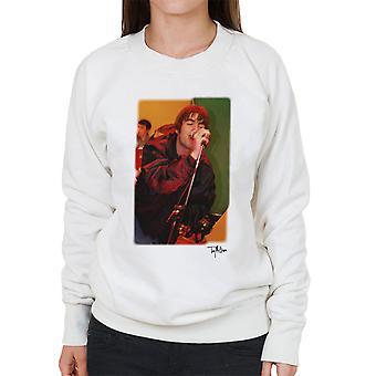 Oasis Liam Gallagher Performing Women's Sweatshirt