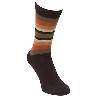 40 Colori Gradient Striped Socks - Brown