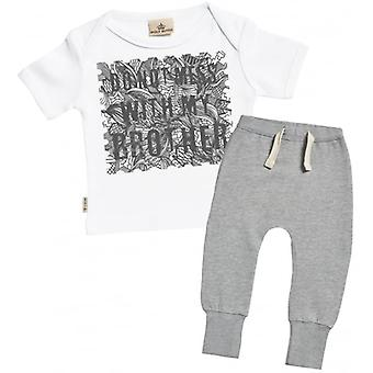 Spoilt Rotten Don't Mess With My Brother Baby T-Shirt & Joggers Outfit Set