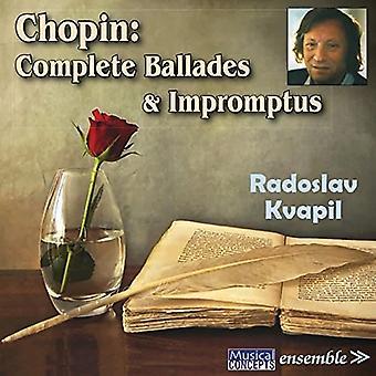 Radoslav Kvapil - Chopin: Komplett ballader & Impromptus [CD] USA import