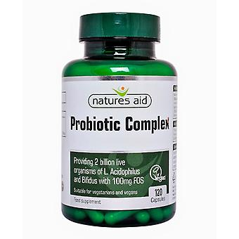 Natures Aid Probiotic Complex (With Bifidus and FOS) , 120 Vegi caps. Suitable for Vegetarians.