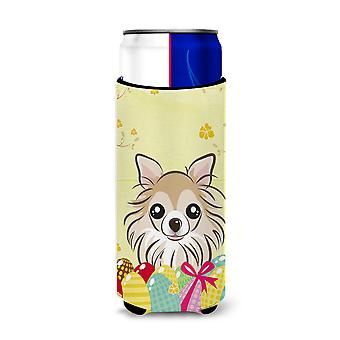 Chihuahua Easter Egg Hunt Michelob Ultra beverage Insulator for slim cans