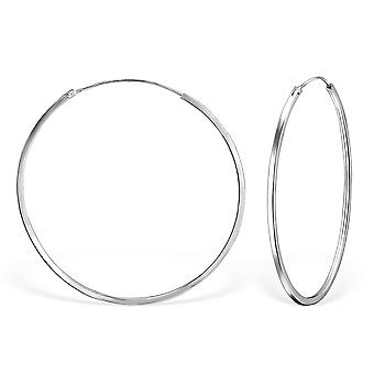 Round - 925 Sterling Silver Ear Hoops