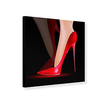 Canvas Print The Red High Heel