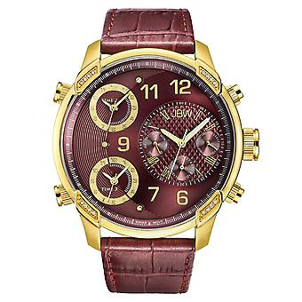 JBW diamond men's stainless steel watch G4 - gold / Ruby