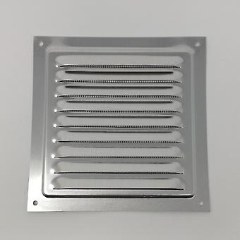 Air Vent Grill – 150 x 150 mm - Metall - Aluminium Rost frei mit Moskito / Bug Net